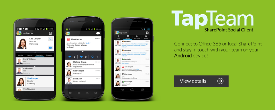 TapTeam SharePoint Social Client for Android