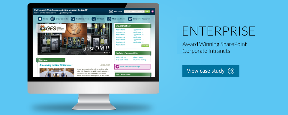 Award Winning SharePoint Corporate Intranet